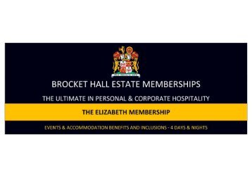 ELIZABETH MEMBERSHIP BENEFITS & INCLUSIONS