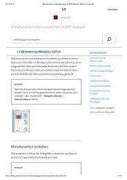 Miniaturseiten und Lesezeichen in PDF-Dateien, Adobe Acrobat DC