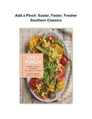 [Cookbook] Add a Pinch: Easier, Faster, Fresher Southern Classics