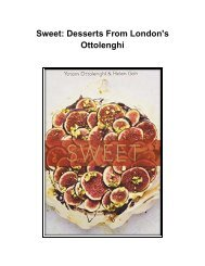 [Cookbook] Sweet: Desserts From London's Ottolenghi