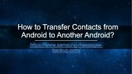 How to Transfer Contacts from Android to Another Android