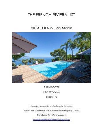 Villa Lola - Cap Martin