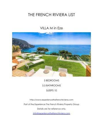 Villa M - Eze
