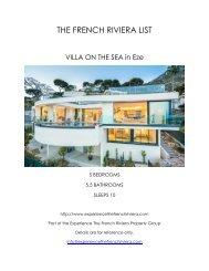 Villa on the Sea - Eze