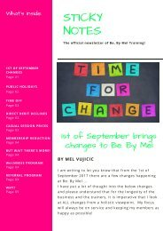 1st of Sept Changes Be. By Mel