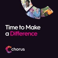 Chorus Time to Make a Difference 2017