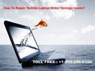 Repair Toshiba Laptop Water Damage Issues