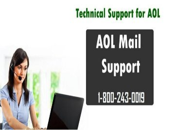 AOL Mail Support Number 18002430019 For Help