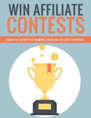 Affiliate Contests Guide - How To Win Affiliate Contests