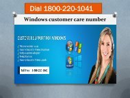 Dial 18002201041 Windows customer care number
