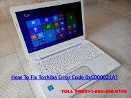 Fix Toshiba Error Code 0xC000021A