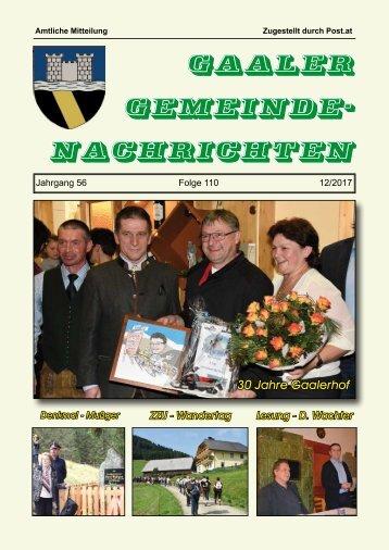 Gemeindezeitung 12/2017