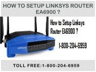 Call 18442003971 To Setup Linksys Router EA6900 Step by Step