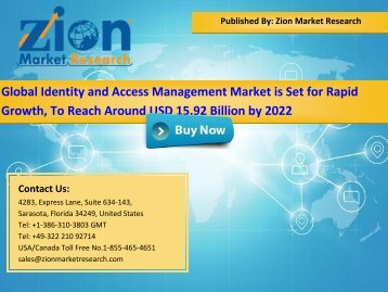 Global Identity and Access Management Market, 2016–2022