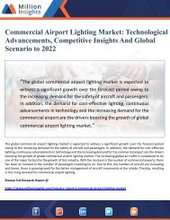 Commercial Airport Lighting Market Technological Advancements, Competitive Insights And Global Scenario to 2022
