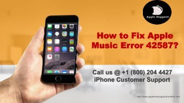 How to Fix Apple Music Error 42587? 1855-341-4016 For Instant Help