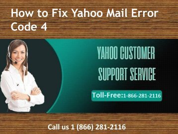 1 (866) 281-2116 Steps to fix yahoo mail error code 4