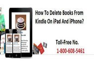 How To Delete Books From Kindle On iPad And iPhone? 1-800-608-5461