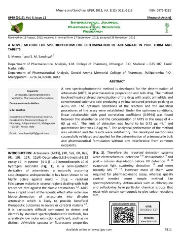IJPSR (2009), Issue 1, Vol - International Journal of Pharmaceutical ...