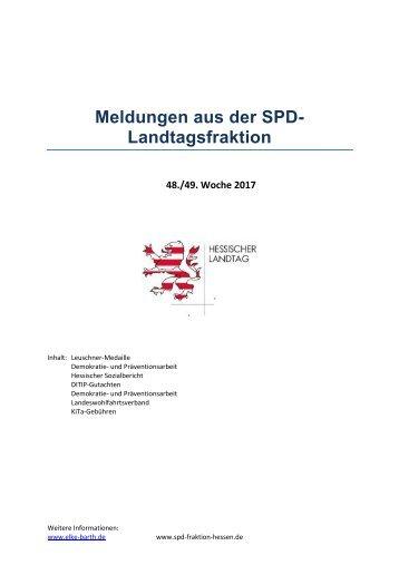Meldungen aus der SPD-Landtagsfraktion (3)