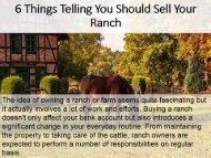 6 Things Telling You Should Sell Your Ranch