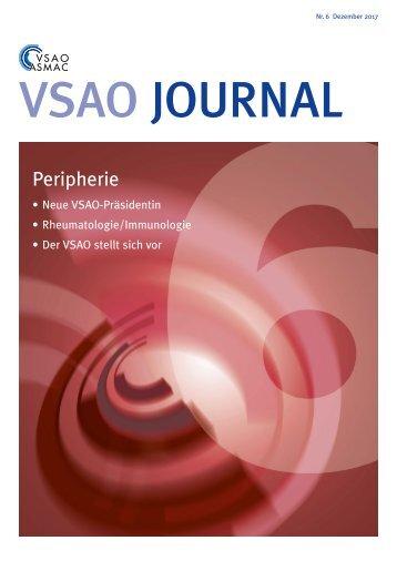 VSAO JOURNAL Nr. 6 - Dezember 2017