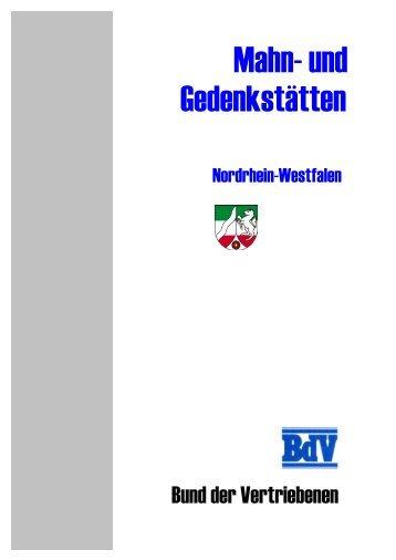 Mahn- und Gedenkstätten - Bund der Vertriebenen