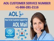 Aol customer service 18662812116 Aol email support number