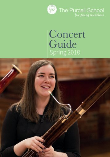 Purcell Concert Guide Spring Term 2018