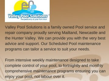 Swimming pool equipment Maitland