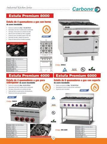 Catalogo de Estufas Profesionales