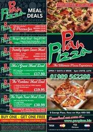 Pan Pizza Web Menu