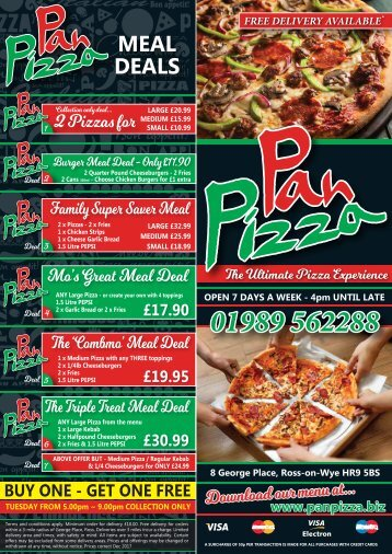Pan Pizza Web Menu