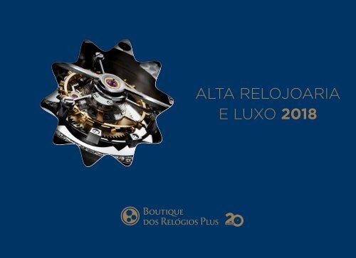 502fc14a349 CATÁLOGO BOUTIQUE DOS RELÓGIOS PLUS ALTA RELOJOARIA 2018
