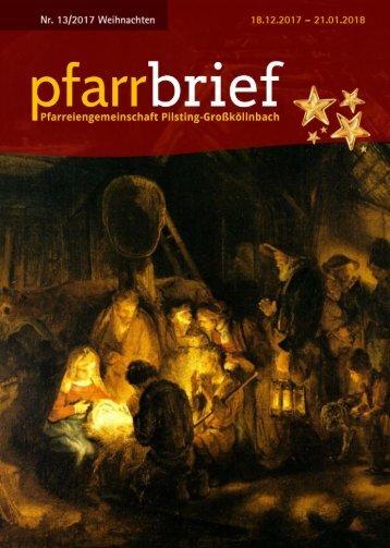 Pfarrbrief 13-2017 Weihnachten