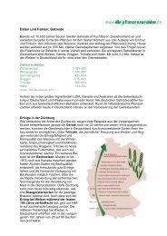 Daten und Fakten: Getreide