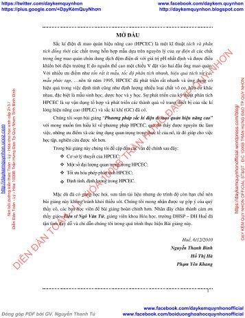 Phương pháp sắc kí điện di mao quản hiệu năng cao (HPCEC) - Nguyễn Thanh Bình, Hồ Thị Hà Phạm, Yên Khang - Trường ĐHSP ĐH Huế