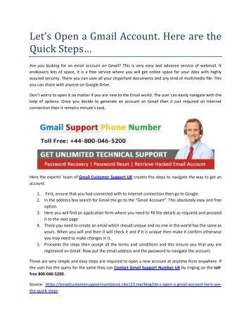 Let's Open a Gmail Account. Here are the Quick Steps...