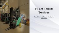 Forklift Fleet Management - Hi-Lift Forklift Services