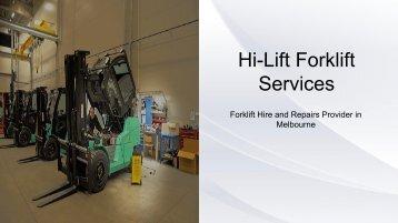 Forklift Fleet Management - Hi-Lift Forklift Services