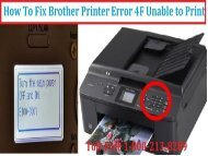 Fix Brother Printer Error 4F Unable to Print by 18002138289