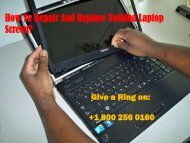 Repair And Replace Toshiba Laptop Screen