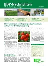 BDP-Nachrichten - Bundesverband Deutscher Pflanzenzüchter e.V.