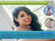 Attractive Chennai Escorts for Enjoyment at New Year