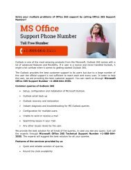 Microsoft Office 365 Technical Support Number