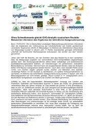 Ohne Schwellenwerte gleicht GVO-Analytik russischem Roulette
