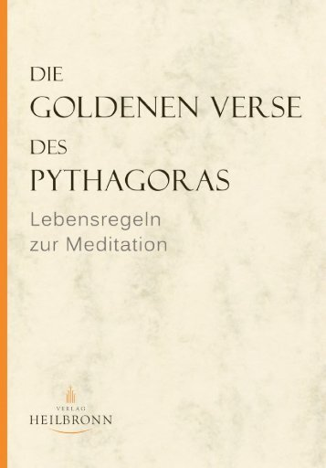 Die Goldenen Verse des Pythagoras -  Leseprobe