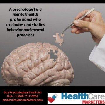 Psychologists Email List