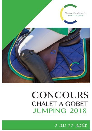 Manègu du Chalet-à-Gobet - Jumping 2018 - Sponsoring