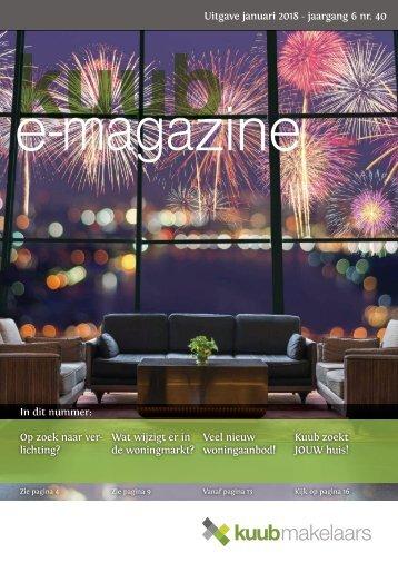 Kuub E-magazine #40, jaargang 6, januari 2018